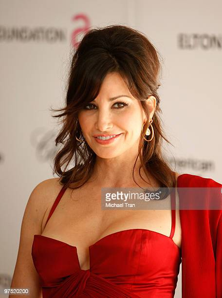 Gina Gershon arrives to the 18th Annual Elton John AIDS Foundation Academy Awards Viewing Party held at Pacific Design Center on March 7 2010 in West...