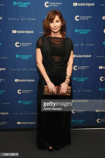 Gina Gershon attends a screening of the YouTube Original Feature Film 'Price Of Free' at MOMA on November 1 2018 in New York City