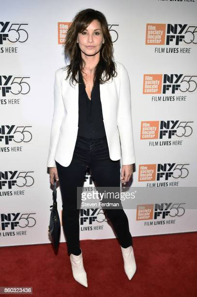Gina Gershon attends a special screening of 'Joan Didion The Center Will Not Hold' during the 55th New York Film Festival at Alice Tully Hall on...