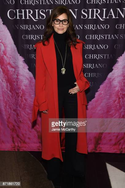 Gina Gershon attends Christian Siriano celebrates the release of his book Dresses To Dream About at the Rizzoli Flagship Store on November 8 2017 in...