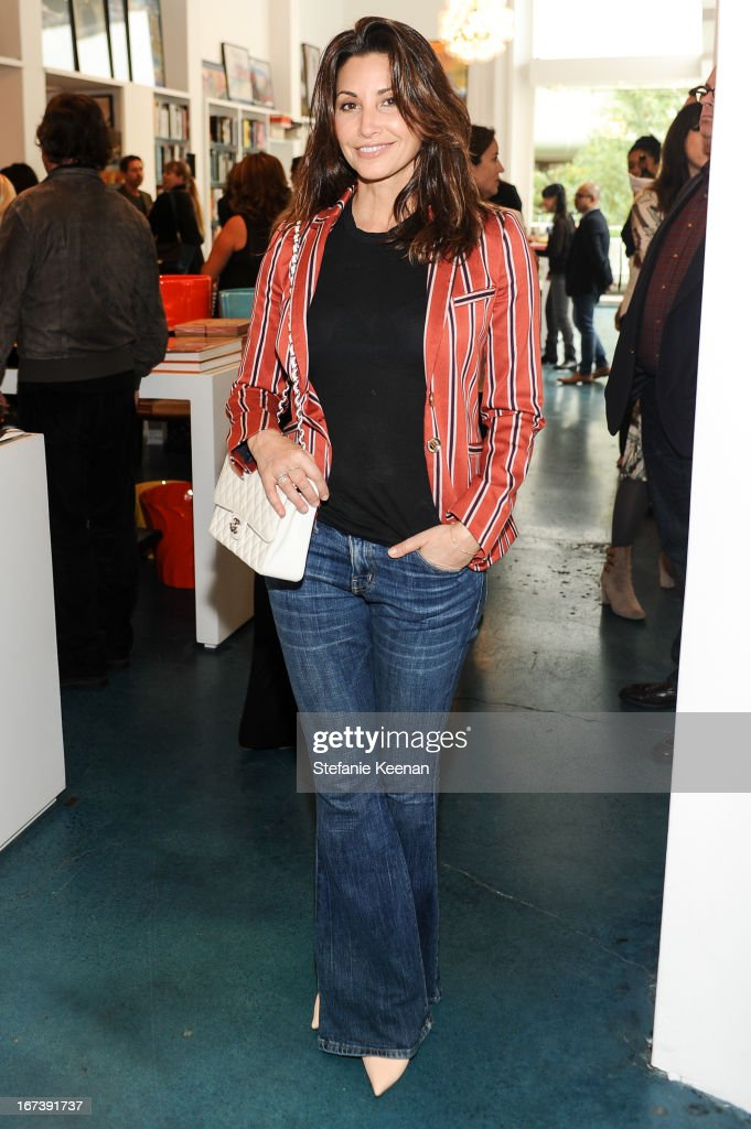 Gina Gershon attends Director's Circle Celebrates Wear LACMA, Sponsored By NET-A-PORTER And W at LACMA on April 24, 2013 in Los Angeles, California.