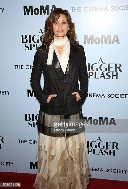 Gina Gershon attends Fox Searchlight Pictures with The Cinema Society host a screening of 'A Bigger Splash' at Museum of Modern Art on April 21 2016...
