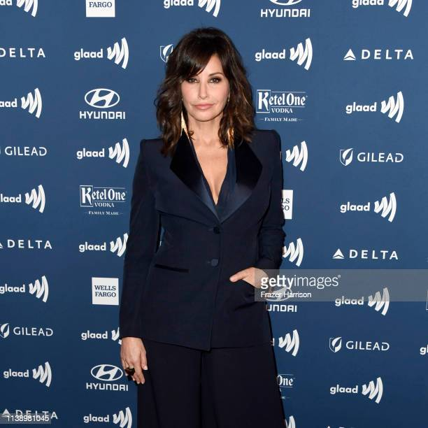 Gina Gershon attends the 30th Annual GLAAD Media Awards at The Beverly Hilton Hotel on March 28 2019 in Beverly Hills California