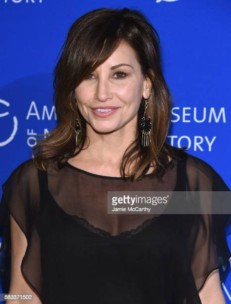 Gina Gershon attends the American Museum Of Natural History's 2017 Museum Gala at American Museum of Natural History on November 30, 2017 in New York...