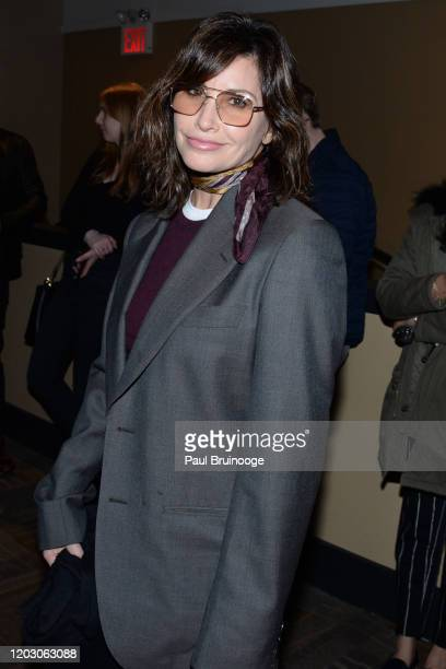 "Gina Gershon attends The Cinema Society & Monkey 47 Host A Special Screening Of Sony Pictures Classics' ""Greed"" at Cinepolis Chelsea on February 24,..."