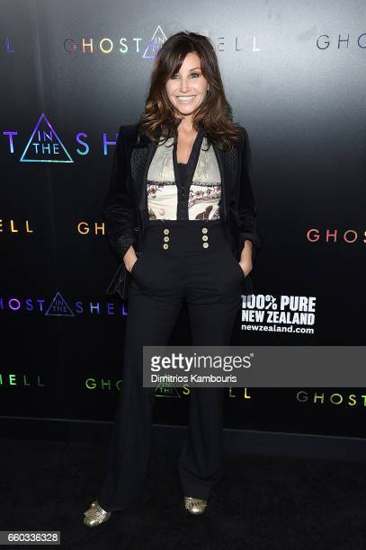 Gina Gershon attends the 'Ghost In The Shell' premiere hosted by Paramount Pictures DreamWorks Pictures at AMC Lincoln Square Theater on March 29...