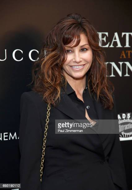 """Gina Gershon attends the Gucci & The Cinema Society Host A Screening Of Roadside Attractions' """"Beatriz At Dinner"""" at the Metrograph on June 6, 2017..."""