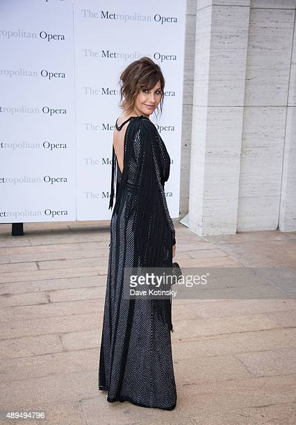 Gina Gershon attends the Metropolitan Opera 20152016 season opening night of Otello at The Metropolitan Opera House on September 21 2015 in New York...