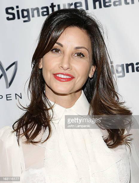 Gina Gershon attends the 'Old Hats' Opening Night at Signature Theatre Company's The Pershing Square Signature Center on March 4 2013 in New York City