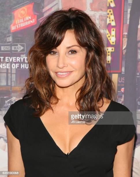 Gina Gershon attends the premiere of HBO's Crashing on February 15 2017 in Hollywood California