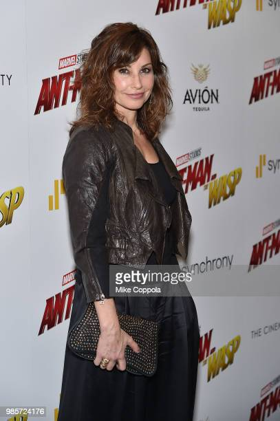 Gina Gershon attends the screening of Marvel Studios' 'AntMan and The Wasp' hosted by The Cinema Society with Synchrony and Avion at Museum of Modern...