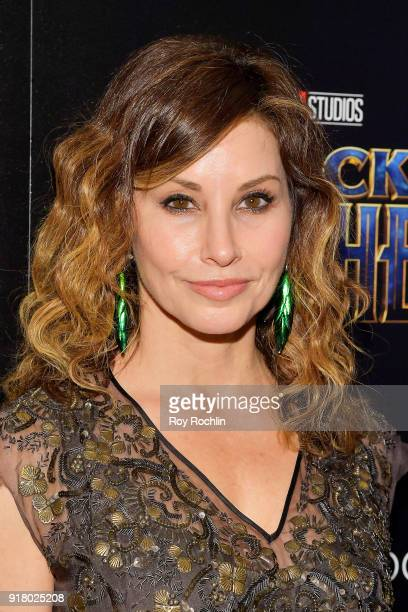 Gina Gershon attends the screening of Marvel Studios' 'Black Panther' hosted by The Cinema Society on February 13 2018 in New York City