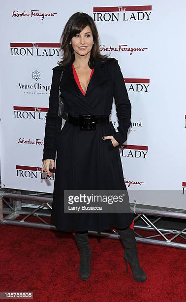 Gina Gershon attends the 'The Iron Lady' New York premiere at the Ziegfeld Theater on December 13 2011 in New York City