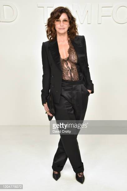Gina Gershon attends the Tom Ford AW/20 Fashion Show at Milk Studios on February 07 2020 in Los Angeles California
