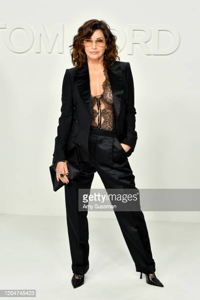Gina Gershon attends the Tom Ford AW20 Show at Milk Studios on February 07 2020 in Hollywood California