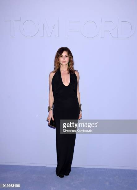 Gina Gershon attends the Tom Ford Fall/Winter 2018 Women's Runway Show at the Park Avenue Armory on February 8 2018 in New York City