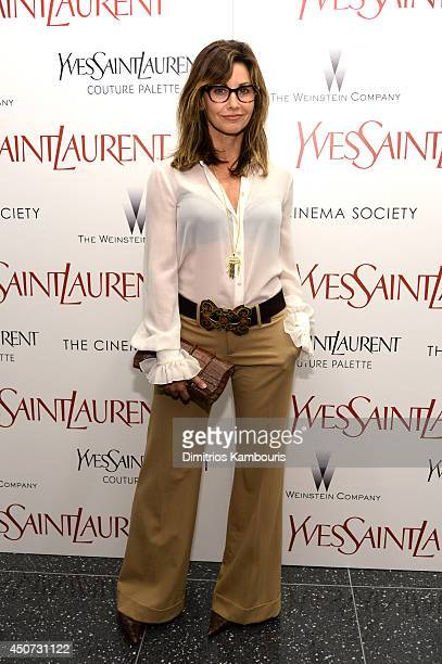 Gina Gershon attends The Weinstein Company's Yves Saint Laurent premiere hosted by Yves Saint Laurent Couture Palette The Cinema Society at Museum of...