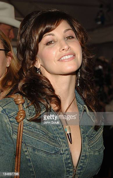 Gina Gershon during 2005 CMT Music Awards Arrivals at Gaylord Entertainment Center in Nashville Tennessee United States