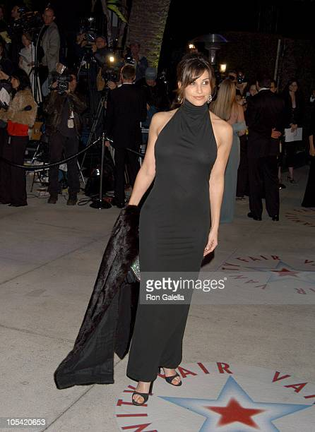 Gina Gershon during 2005 Vanity Fair Oscar Party Arrivals at Mortons in Los Angeles California United States