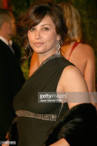 Gina Gershon during 2006 Vanity Fair Oscar Party at Morton's in West Hollywood California United States