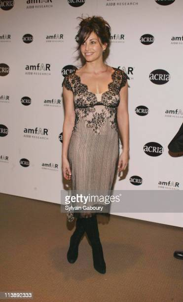 Gina Gershon during amfAR and ACRIA Honor Herb Ritts for His Work and Activism at Sotheby's in New York New York United States
