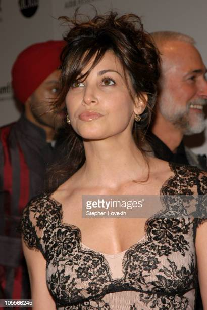 Gina Gershon during amfAR and ACRIA Honor Herb Ritts with a Sale of Contemporary Artwork at Sotheby's in New York City New York United States