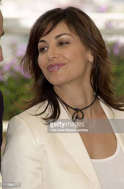 Gina Gershon during Cannes 2002 'Demonlover' Photo Call at Palais des Festivals in Cannes France