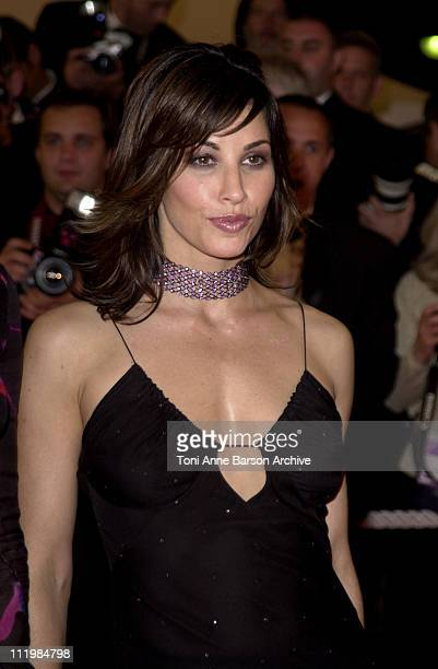 Gina Gershon during Cannes 2002 Demonlover Premiere at Palais des Festivals in Cannes France