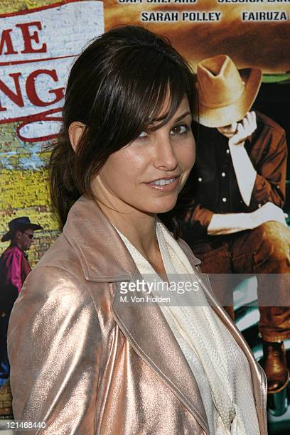 Gina Gershon during Don't Come Knocking New York Inside arrivals at DGA Theater in New York NY United States