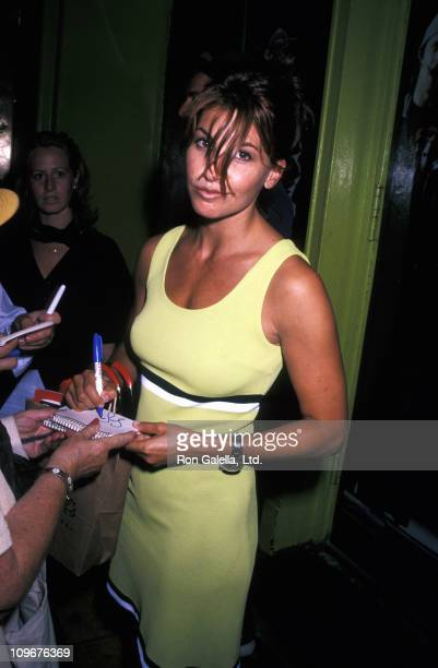Gina Gershon during Gina Gershon Sighting at a Performance of Rent in New York City July 16 1996 at Nederlander Theater in New York City New York...