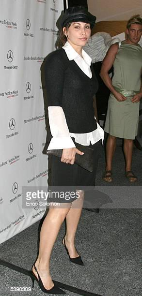 Gina Gershon during MercedesBenz Spring 2006 LA Fashion Week at Smashbox Studios Louis Verdad Arrivals at Smashbox Studios in Culver City California...