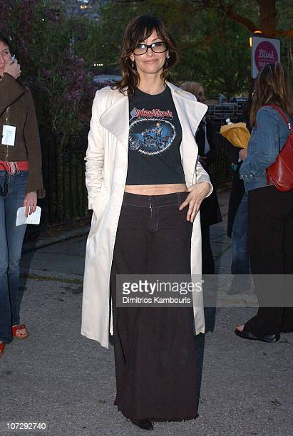 Gina Gershon during MTV and VH1 Present 100% NYC A Concert Celebrating The Tribeca Film Festival Backstage at Battery Park City in New York City New...