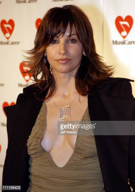 Gina Gershon during The 45th GRAMMY Awards MusiCares 2003 Person of the Year Bono Arrivals by Jeff Kravitz at Marriott Marquis in New York City New...
