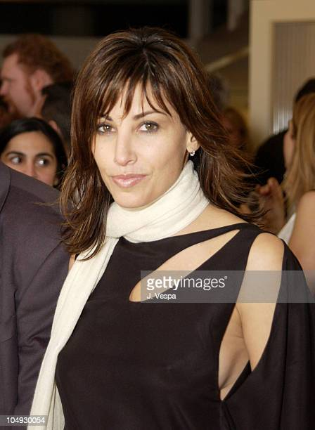 Gina Gershon during Women's Wear Daily The Ultimate Fashion Authority Hosted 'White Hot Diamonds' The Exclusive PreOscar Fashion Event Where...