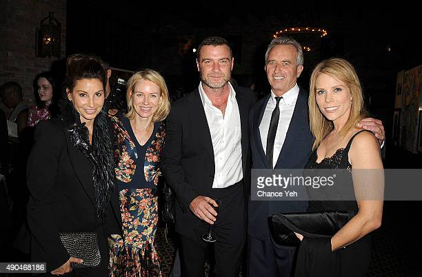 Gina Gershon Naomi Watts Liev Schreiber Robert Kennedy Jr and Cheryl Hines attend 3rd Annual Turtle Ball at The Bowery Hotel on September 28 2015 in...