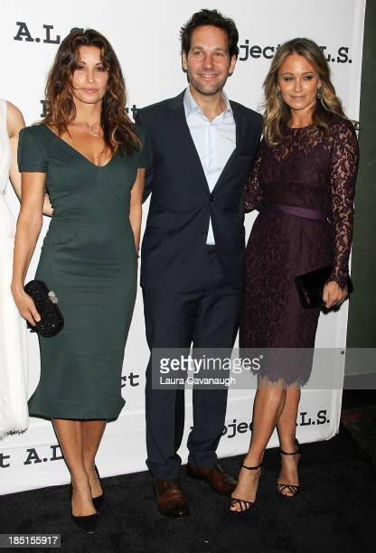 Gina Gershon Paul Rudd and Christine Taylor attend the Project ALS 15th Anniversary at Roseland Ballroom on October 17 2013 in New York City