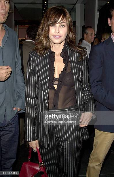 Gina Gershon wearing Tom Ford for Yves Saint Laurent Rive Gauche