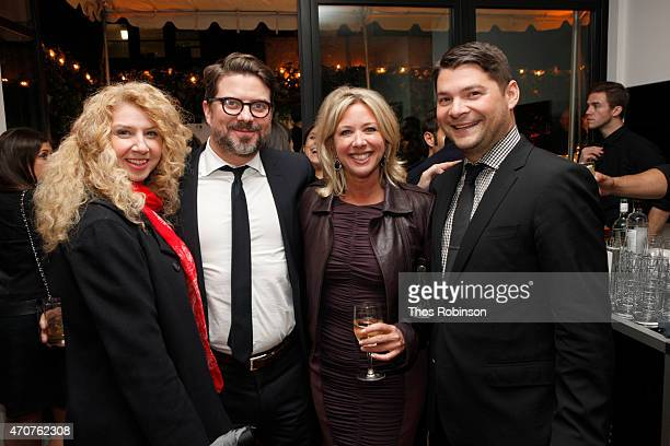 Gina Gervino Josh Stinchcomb Tracy Baldwin and Scott Steiner attend The Lincoln Motor Company Conde Nast host an exclusive cocktail party to...