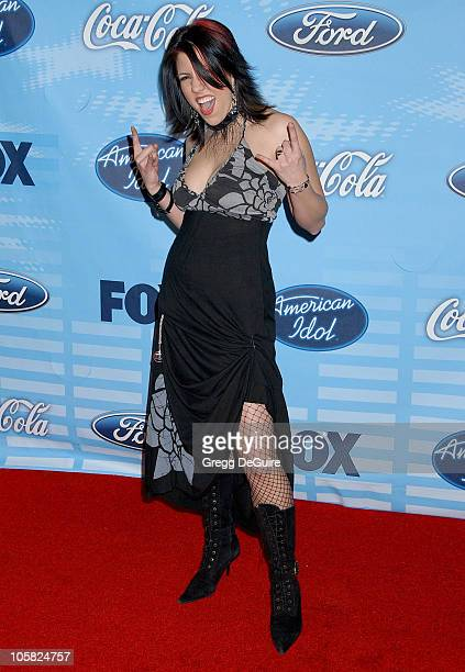Gina Glocksen during American Idol Top 12 Finalists Party Arrivals at Astra West in West Hollywood California United States