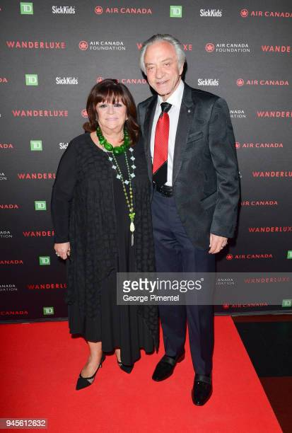 Gina Godrey and Paul Godfrey attend Wanderluxe benefiting Air Canada And SickKids Foundationon held at Rebel on April 12, 2018 in Toronto, Canada.