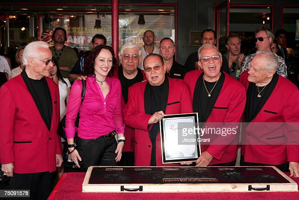 Gina Haley with Franny Beacher Johnny Grande Joey Ambrosio Marshall Lytle and Dick Richards of Bill Haley His Comets