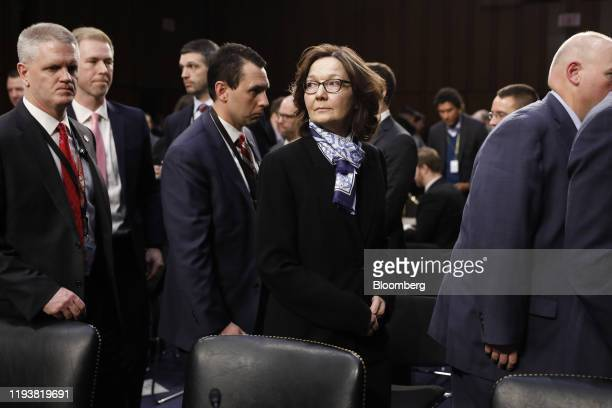 Gina Haspel director of the Central Intelligence Agency center departs after a Senate Intelligence Committee hearing in Washington DC US on Tuesday...
