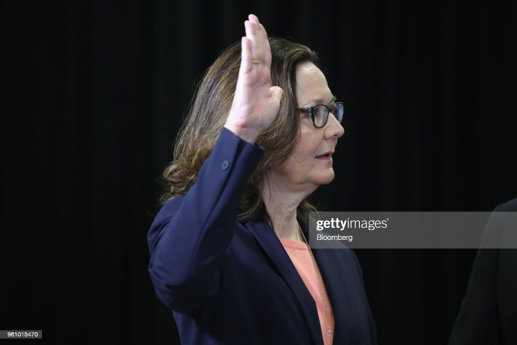 President Trump Attends The Swearing-In Of Gina Haspel As The Director Of The Central Intelligence Agency