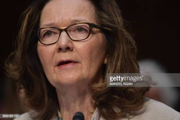 Gina Haspel testifies before the Senate Intelligence Committee on her nomination to be the next CIA director in the Hart Senate Office Building on...