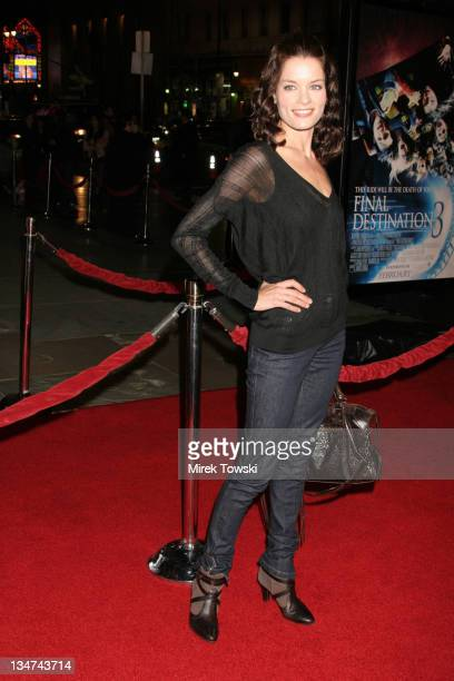 Gina Holden during Final Destination 3 Los Angeles Premiere Arrivals at Grauman's Chinese Theatre in Hollywood California United States