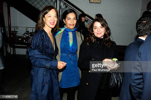 Gina Kwan Sarita Choudhury and Annabella Sciorra attend Special Screening Of Season 2 Of Amazon's Fleabag at Metrograph on May 2 2019 in New York City