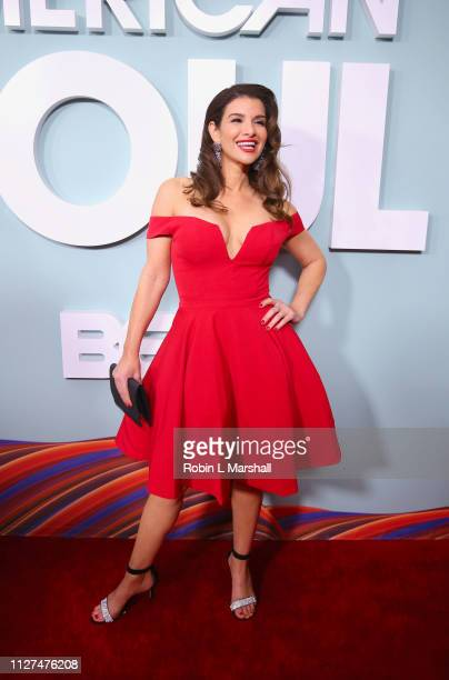 Gina La Piana attends BET's 'American Soul' Red Carpet at Wolf Theatre on February 04 2019 in North Hollywood California