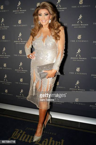 Gina Liano attends the 2017 Johnnie Walker Grand Prix Penthouse Party on March 25 2017 in Melbourne Australia