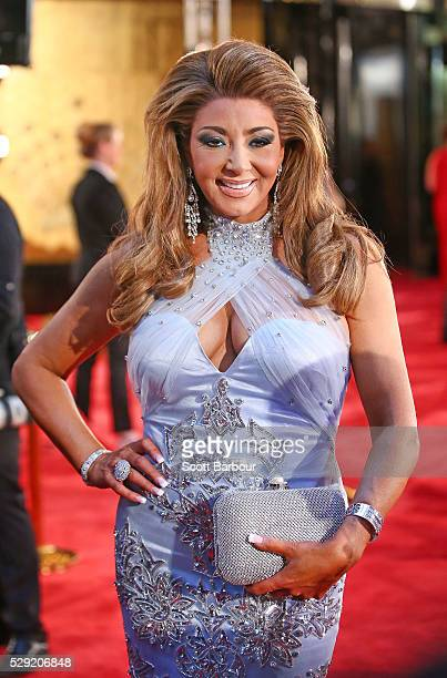 Gina Liano from The Real Housewives of Melbourne arrives at the 58th Annual Logie Awards at Crown Palladium on May 8 2016 in Melbourne Australia
