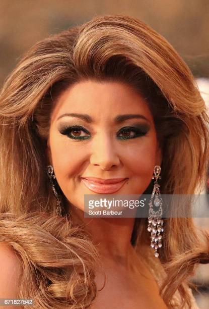 Gina Liano from the 'Real Housewives of Melbourne' arrives at the 59th Annual Logie Awards at Crown Palladium on April 23 2017 in Melbourne Australia